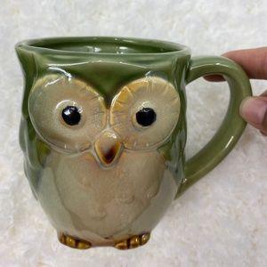 Owl Ceramic Green Mug - NEW
